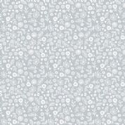 Makower Essentials - S3 1911 - White on-Grey Ditzy Floral